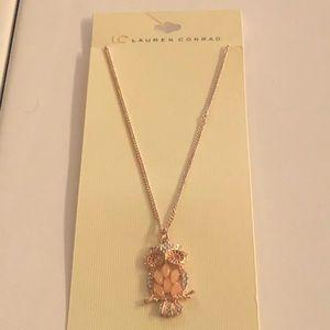 LC Lauren Conrad Rose Gold Owl Pendant Necklace